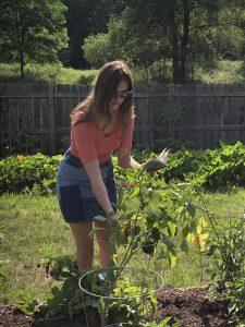 Ellie studies plants